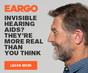 EARGO Ad - Invisible hearing aids? They're more real than you think.