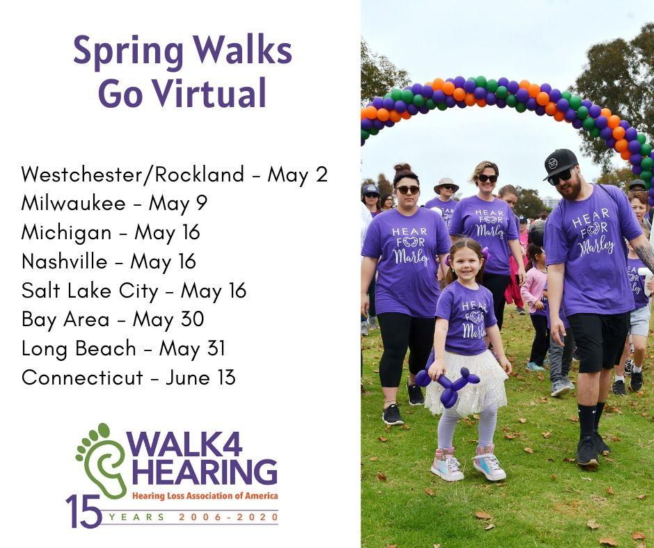 Walk4Hearing Spring Walks Going Virtual