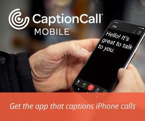 CAPTIONCALL AD - Caption mobile call logo
