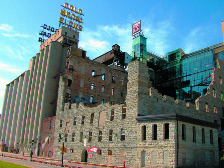 Exterior of Mill City Museum