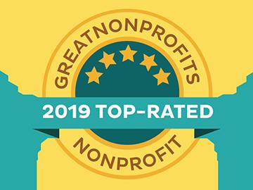 GreatNonprofits 2019 top rating award badge