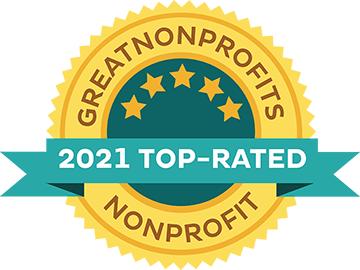 Great Nonprofits 2020 top rating award badge