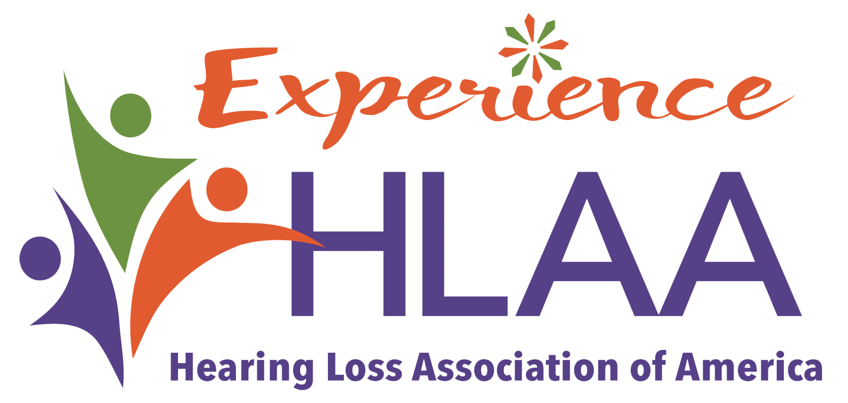 "HLAA logo with ""Experience HLAA"" in the headline"