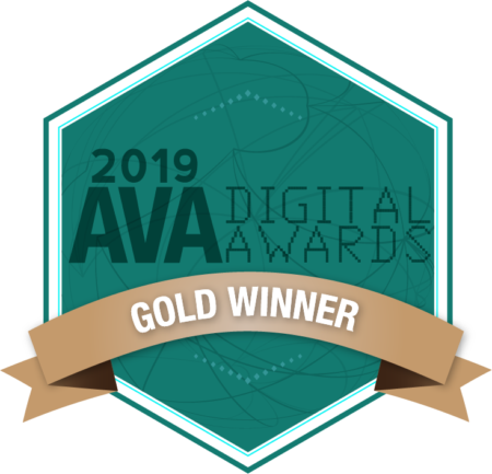 2019 AVA Digital Awards Gold Winner Badge
