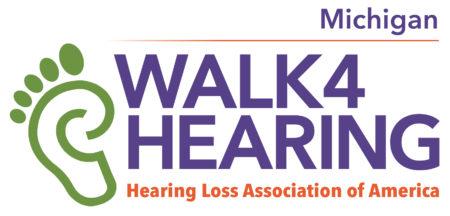 HLAA Walk4Hearing Michigan logo