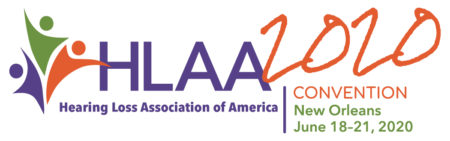 HLAA2020 Convention Logo in Horizontal layout and white background