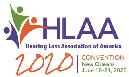 HLAA2020 Convention Logo in Vertical layout and clear background