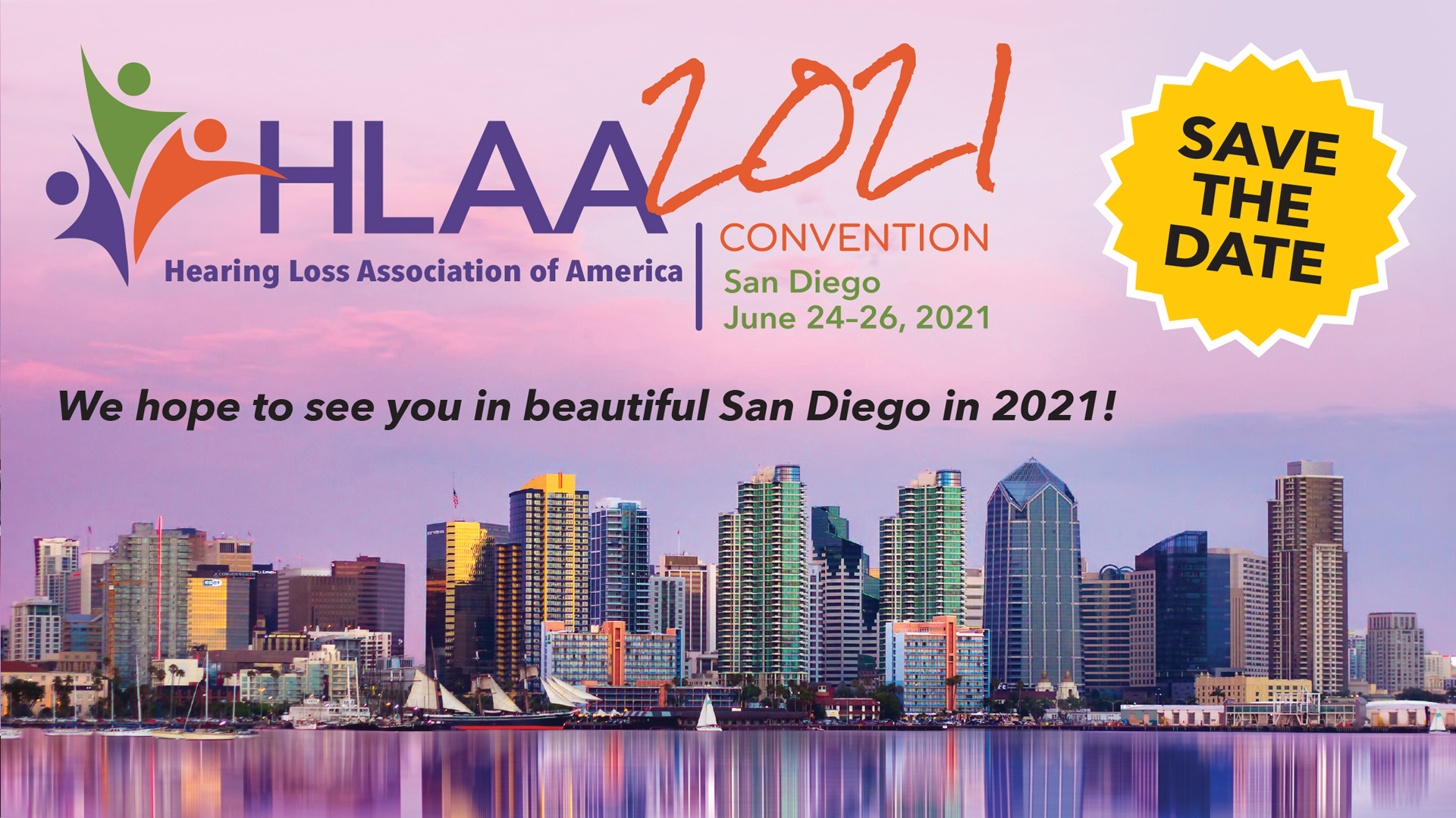 HLAA2021 Convention in San Diego - Save the Date