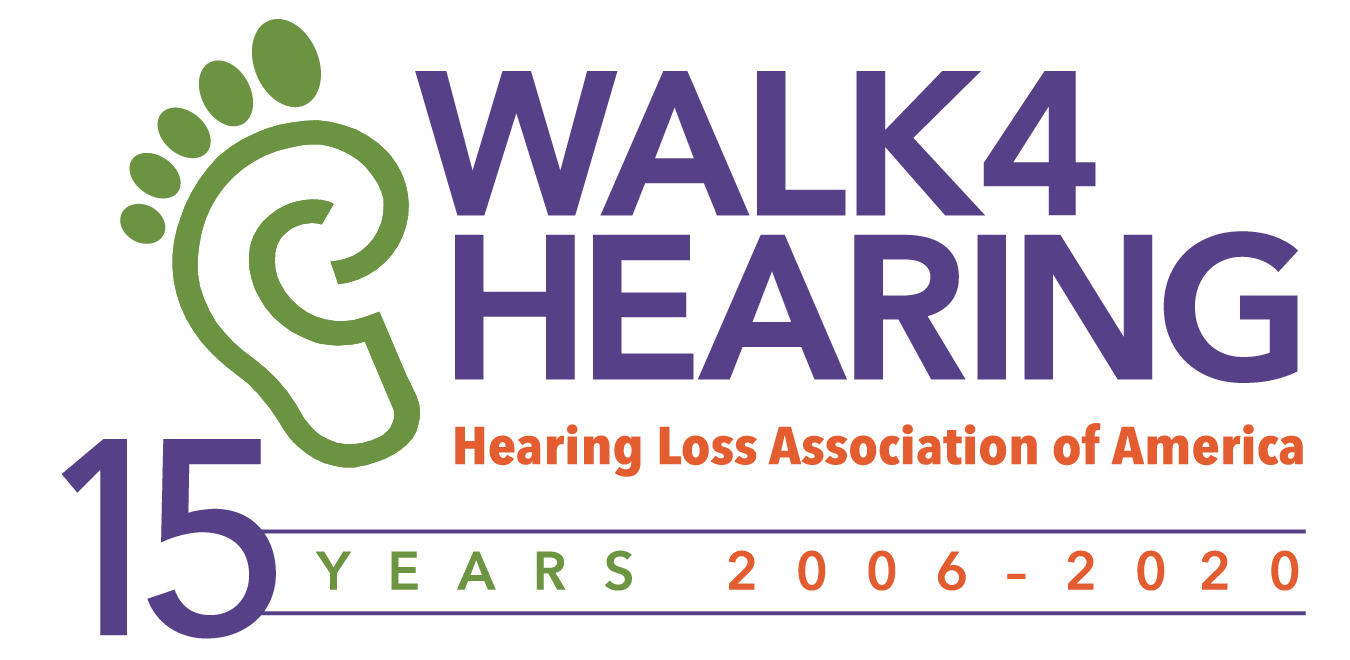 HLAA Walk4Hearing 15th Anniversary Logo