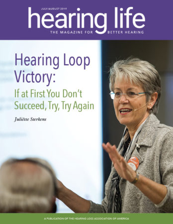 HLAA Hearing Life 2019 July/August Cover
