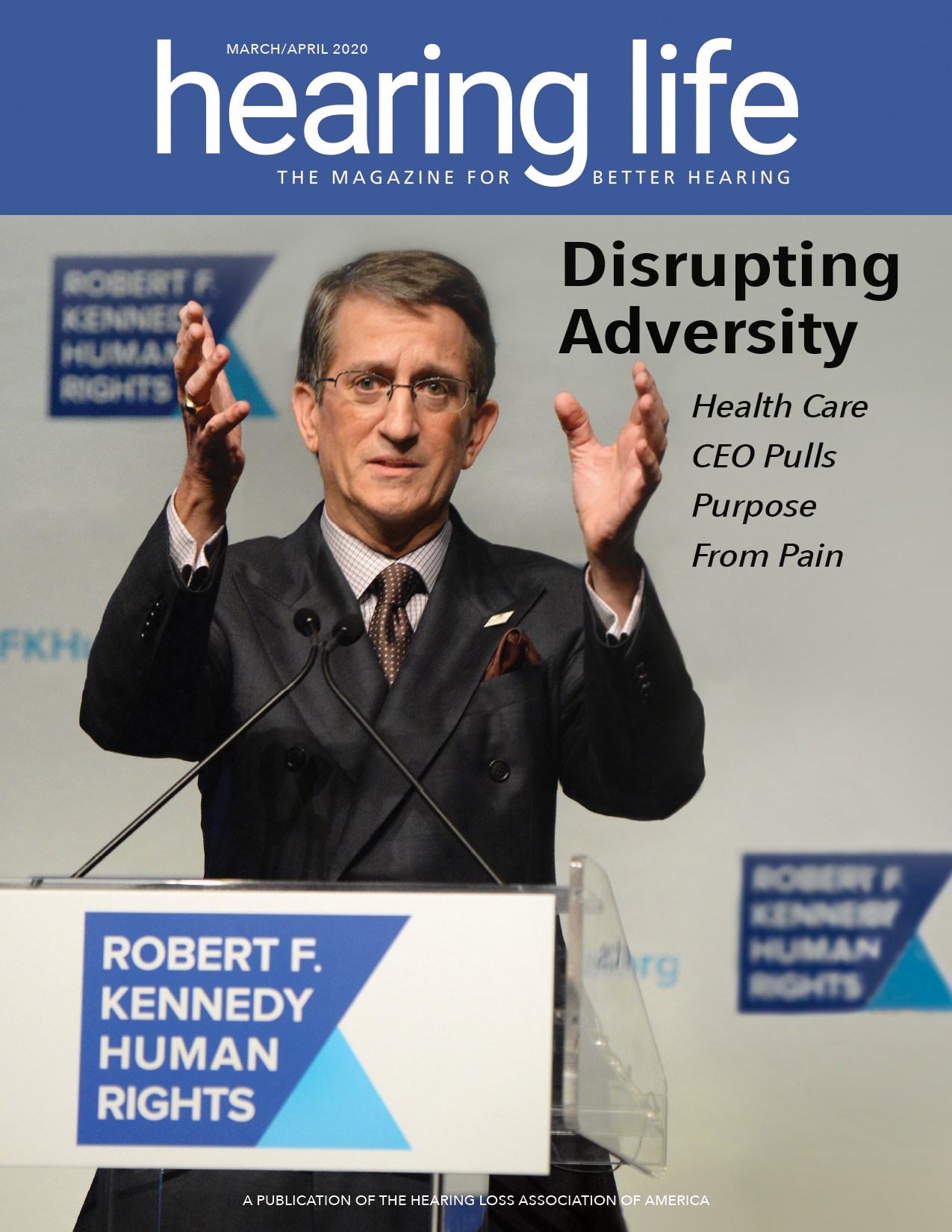 Donato Tramuto, CEO of Tivity Health, Inc. on the cover of Hearing Life - Disrupting Adversity Health Care CEO Pulls Puspose from Pain