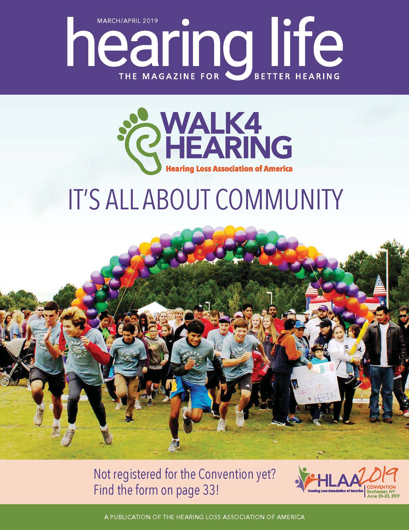 HLAA HearingLife 2019 March/April Cover