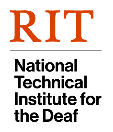 Logo for the Rochester Institute of Technology's National Technical Institute for the Deaf