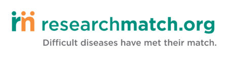 ResearchMatch logo with words:  Difficult diseases have met their match.""
