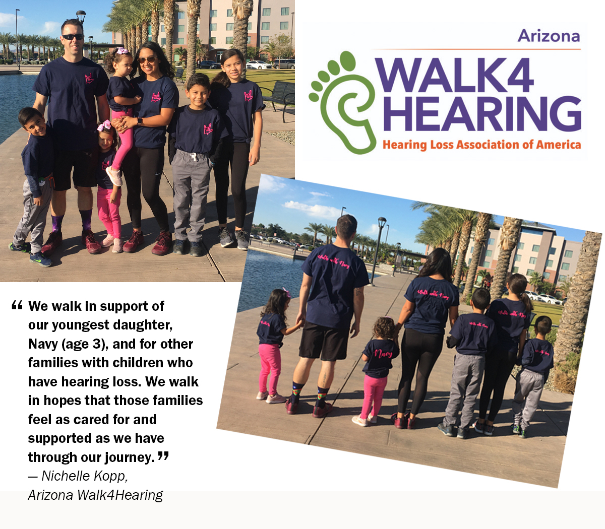 Families at the Arizona Walk4Hearing event