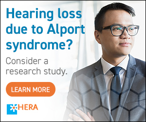 Alport Study Ad - Hearing loss due to Alport Syndrome, consider participating in a research study