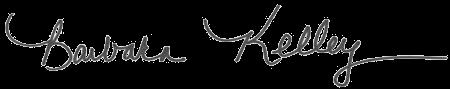 Barbara Kelley's signature