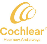 Cochlear logo with tagline Hear now. And Always