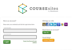 N-CHATT training (image of coursesites login page)