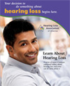 Hearing Loss Videos DVD cover of man looking back and smiling