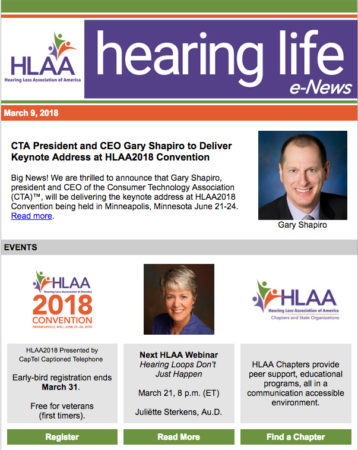 Hearing Life e-News image