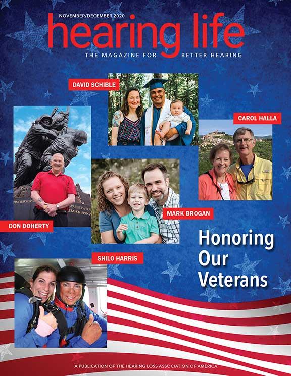 HLAA Hearing Life 2020 September/October Cover Honoring our veterans