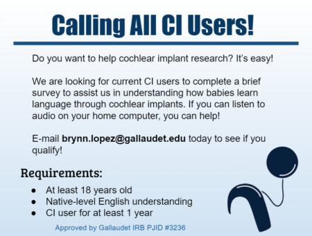 Galludet CI Users Research Ad