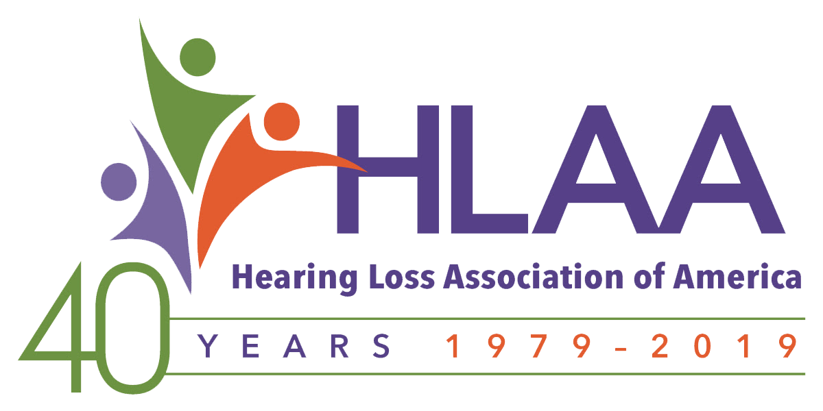 HLAA 40th Anniversary logo