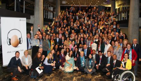 Group photo of World Hearing Forum attendees