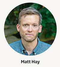 Matt Hay - Finalist for Focus on People awards width=