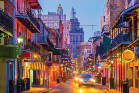 Street view of New Orleans